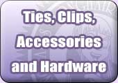 Ties, clips, accessories and hardware